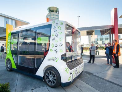First New Zealand autonomous shuttle debuts at Christchurch Airport